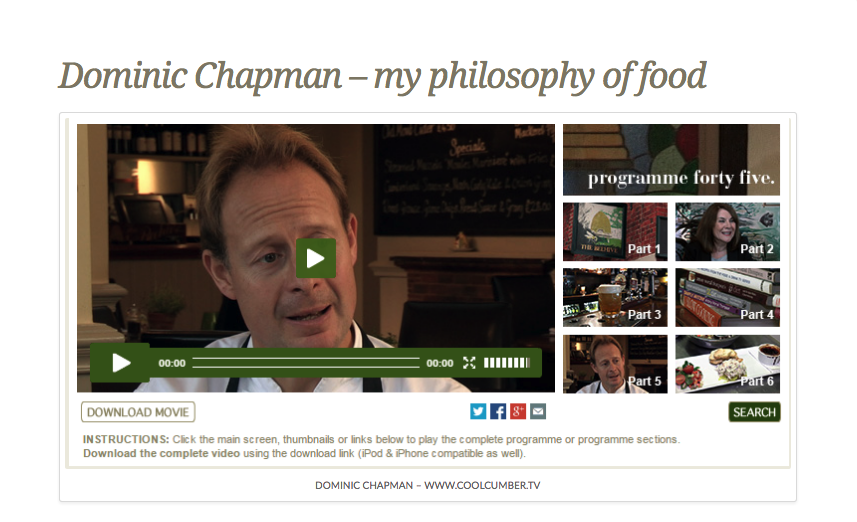 Dominic Chapman interview on www.coolcumber.tv