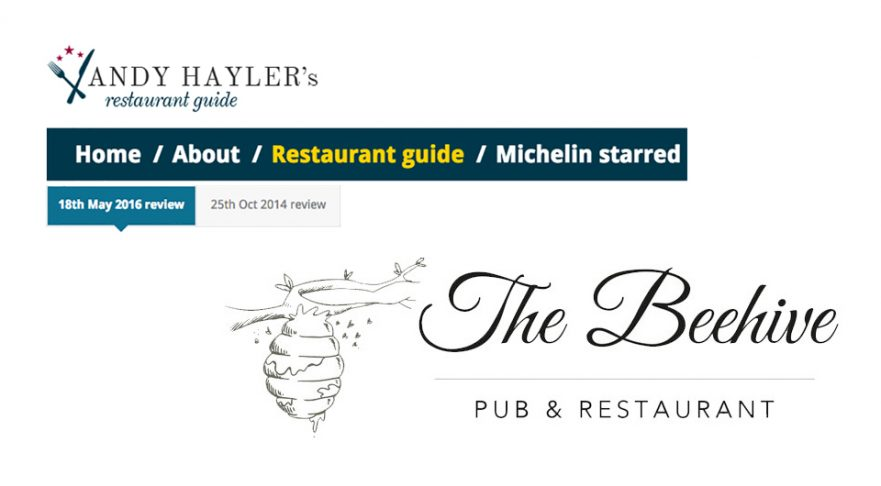 Andy Hayler Review of the Beehive Restaurant, May 2016