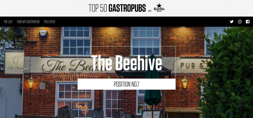 Beehive Number 7 of Estrella Top 50 Gastropubs