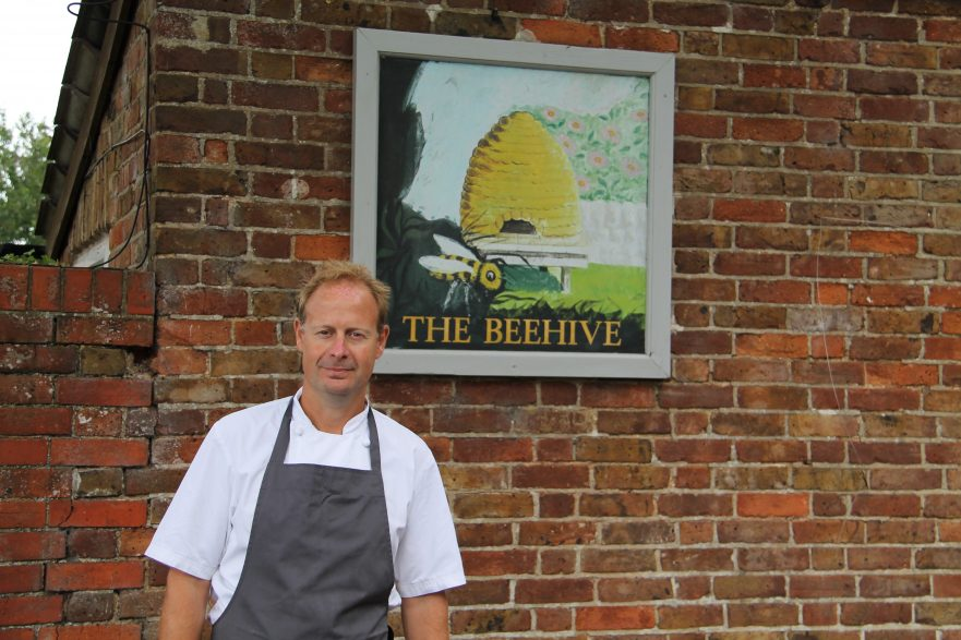 Dominic Chapman, Head Chef, Proprietor of the Beehive Restaurant & Pub in White Waltham