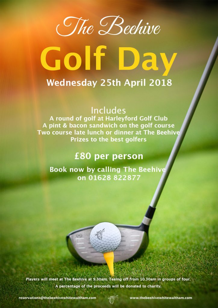 Beehive Charity Golf Day, 25 April 2018
