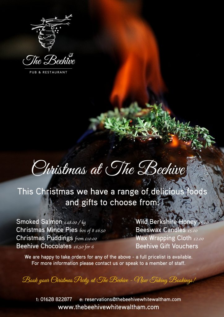 Christmas 2018 at The Beehive Restaurant & Pub